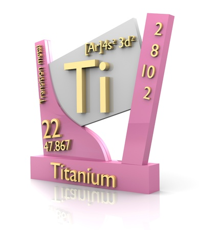 Titanium form Periodic Table of Elements - 3d made photo