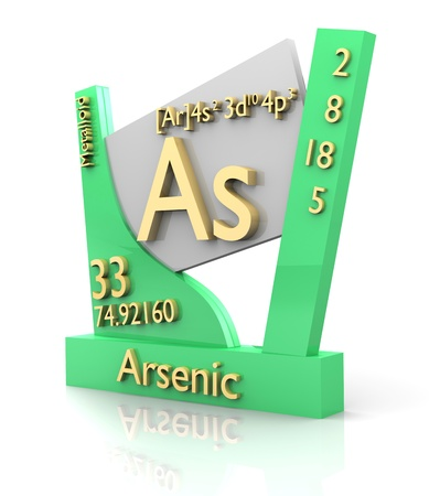 Arsenic form Periodic Table of Elements - 3d made photo