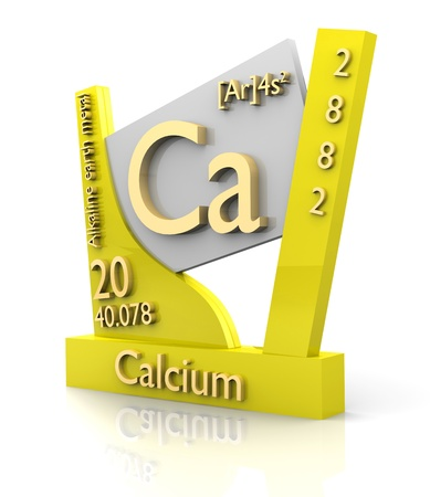 Calcium form Periodic Table of Elements - 3d made