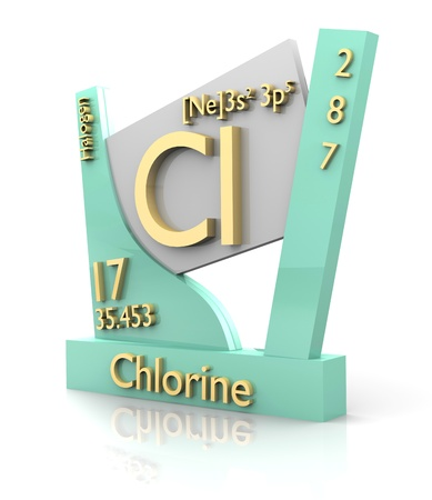 Chlorine form Periodic Table of Elements - 3d made photo