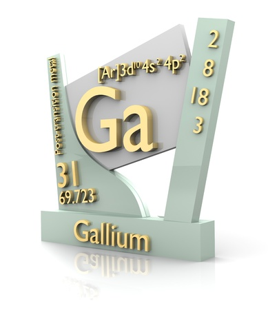 Gallium form Periodic Table of Elements - 3d made photo