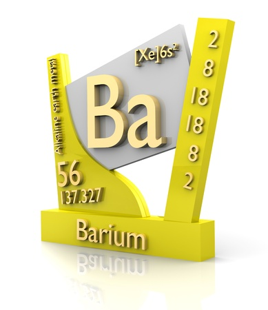 Barium form Periodic Table of Elements - 3d made