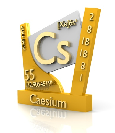 chemistry formula: Caesium form Periodic Table of Elements - 3d made