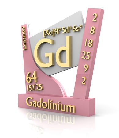 Gadolinium form Periodic Table of Elements - 3d made photo