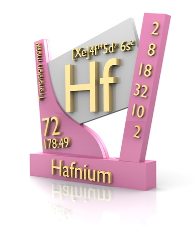 hf: Hafnium form Periodic Table of Elements - 3d made