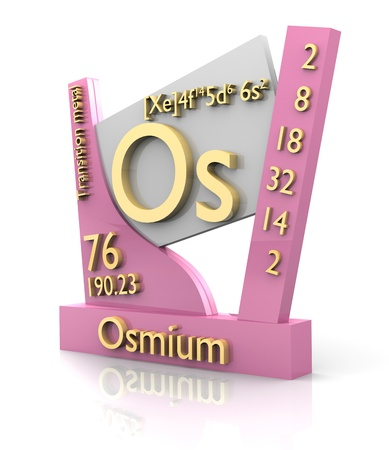 Osmium form Periodic Table of Elements - 3d made