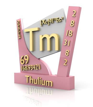 periodic element: Thulium form Periodic Table of Elements - 3d made