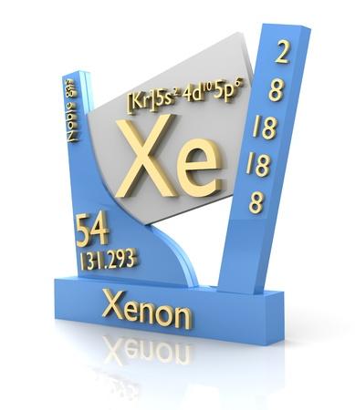 xenon: Tabla de xen�n forma peri�dica de los elementos - 3d hecho
