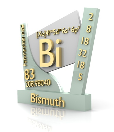 Bismuth form Periodic Table of Elements - 3d made photo