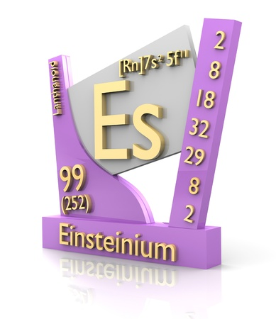 Einsteinium form Periodic Table of Elements - 3d made