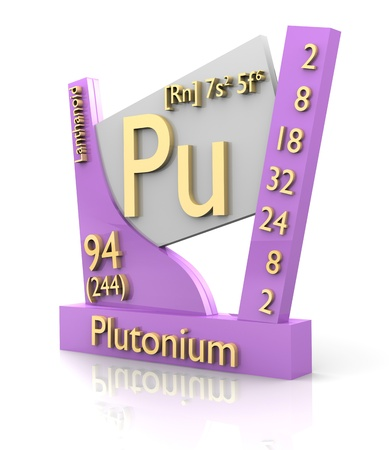 plutonium: Plutonium form Periodic Table of Elements - 3d made Stock Photo