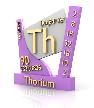 thorium: Thorium form Periodic Table of Elements - 3d made Stock Photo