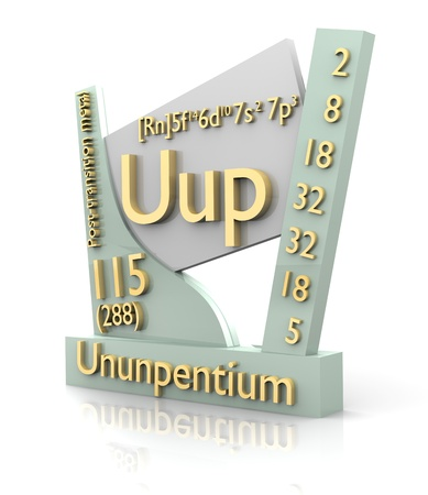 Ununpentium form Periodic Table of Elements - 3d made photo