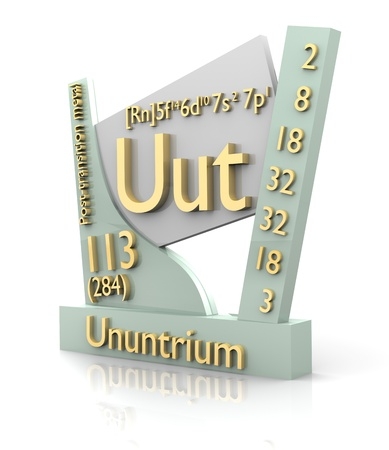 Ununtrium form Periodic Table of Elements - 3d made photo