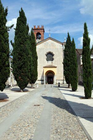 templars: Abbey in Rodengo Saiano - Franciacorta, Lumbardy, Italy Stock Photo