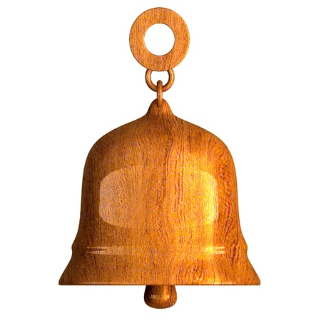 singing bells: bell in wood (3D)  Stock Photo