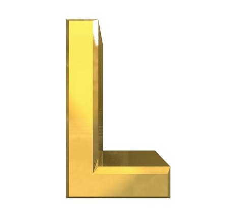 gold 3d letter L - 3d made
