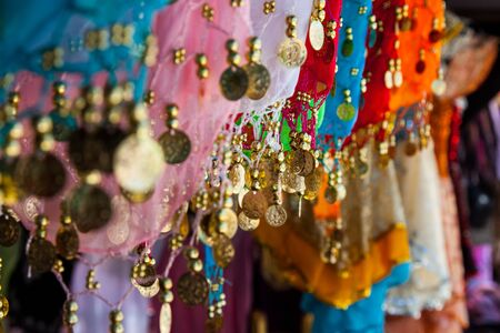 Belly dance costume details, tunisian bazar photo