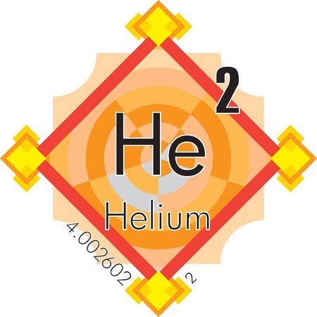 Helium form Periodic Table of Elements V3 -