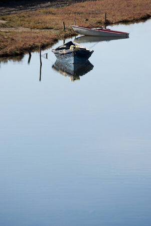 Boats on calm waters photo
