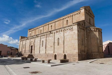 romanesque: Sardinia Romanesque cathedral Stock Photo