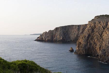 high winds: Cliffs in Sardinia