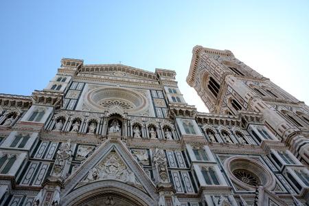 santa maria del fiore: Facade of Santa Maria del Fiore in Florence Stock Photo