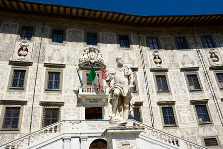 Facade of the famous Scuola Normale of Pisa