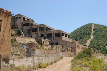abandoned: Sardinia. mining abandoned building