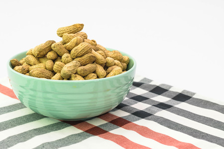 groundnut: groundnut isolated in cup Stock Photo