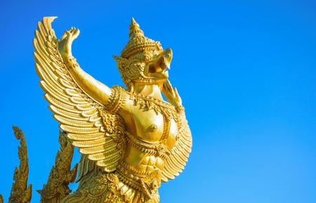 garuda: Garuda on blue background