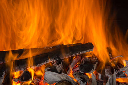 ardor: beautiful fire Stock Photo