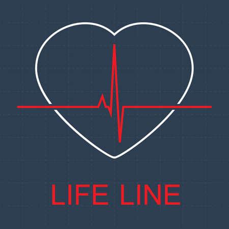 puls: Linia puls życia. Ilustracja
