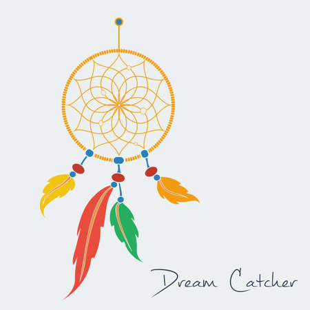 vector dream catcher color.