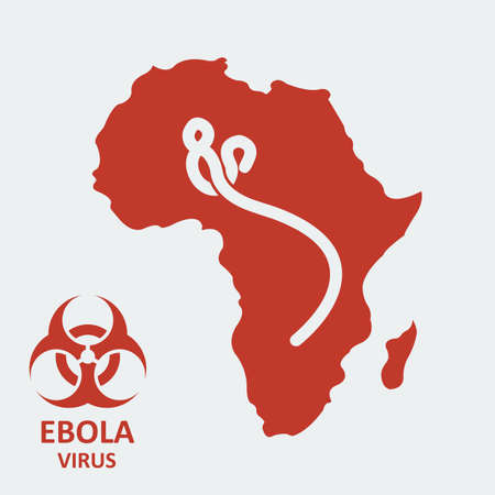 ebola: Vector africa and ebola virus.