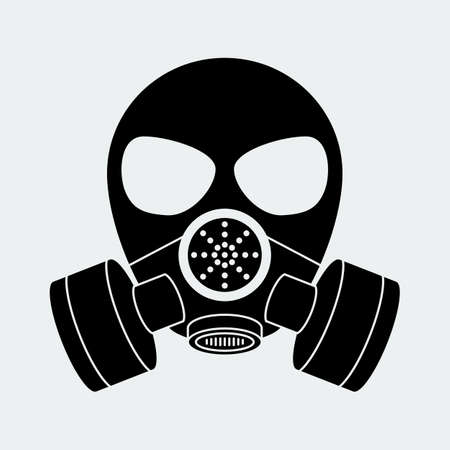 poison sign: Vector biohazard mask white.  Illustration