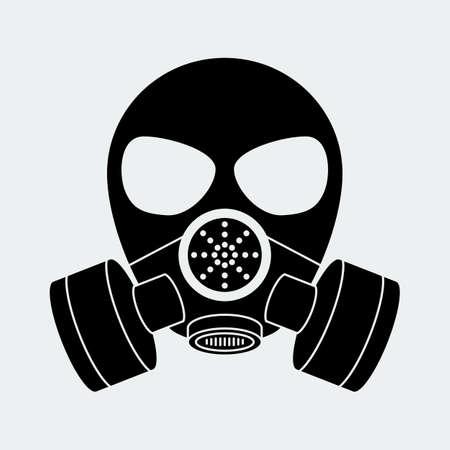 chemical warfare: Vector biohazard mask white.  Illustration