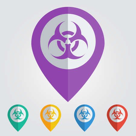biohazard: Vector biohazard sign in pin.