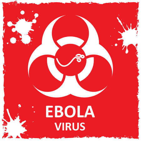 outbreak: Vector ebola virus and biohazard sign. Format eps10