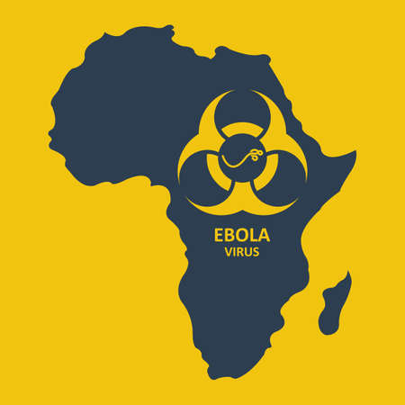 ebola: Vector africa and ebola virus. Format eps10 Illustration