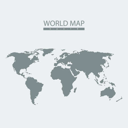Vector world map atlas. continent  mainland  infographics.Flat graphics
