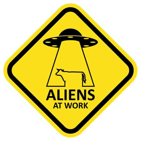space invader: Vector sign aliens at work. Illustration