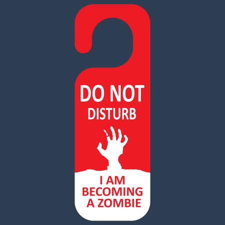 Vector tag do not disturb. Zombie. Vector