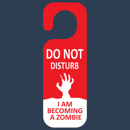 moon walker: Vector tag do not disturb. Zombie.