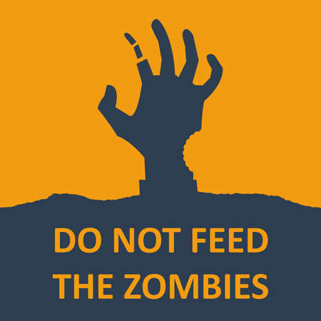 Vector poster about zombie. Vector