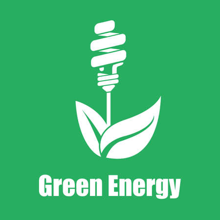 save electricity: Vector green energy saving. Technologies of the future.