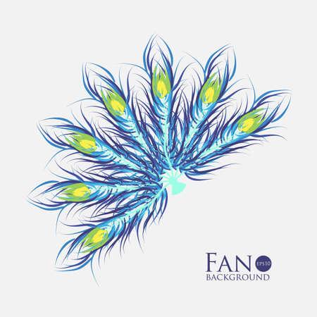 color fan: Vector fan with color background. Fashionable design eps10. Illustration