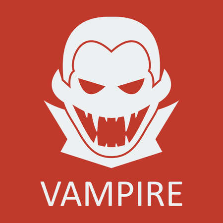 Vector vampire on red background. Format eps 10
