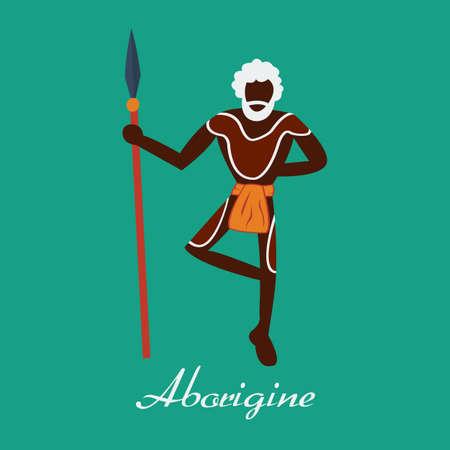 aborigen: Vector australiano aborigen.