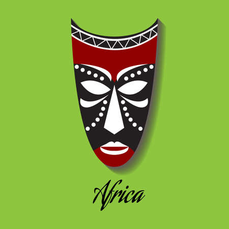 wood carvings: Vector africa mask.
